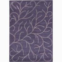 Artist's Loom Hand-tufted Transitional Floral Wool Rug (5'x7') - 5'x7'