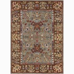 Artist's Loom Hand-tufted Traditional Oriental Wool Rug - 7'x10' - Thumbnail 0