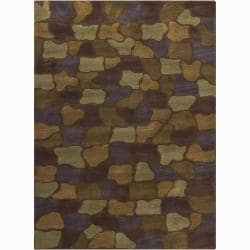 Artist's Loom Hand-tufted Contemporary Geometric Wool Rug (7'x10') - 7' x 10' - Thumbnail 0
