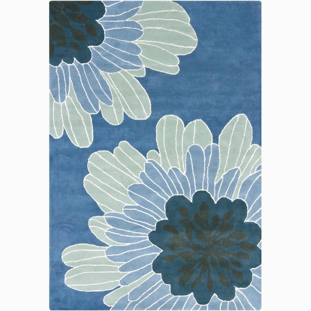 Artist's Loom Hand-tufted Transitional Floral Wool Rug (7'9x10'6) - 8' x 11'