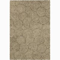 Artist's Loom Hand-tufted Contemporary Geometric Wool Rug (6'x9')