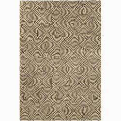 Artist's Loom Hand-tufted Contemporary Geometric Wool Rug (4'x6') - 4' x 6' - Thumbnail 0