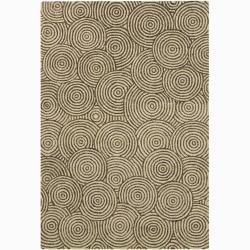 Artist's Loom Hand-tufted Contemporary Geometric Wool Rug (4'x6')