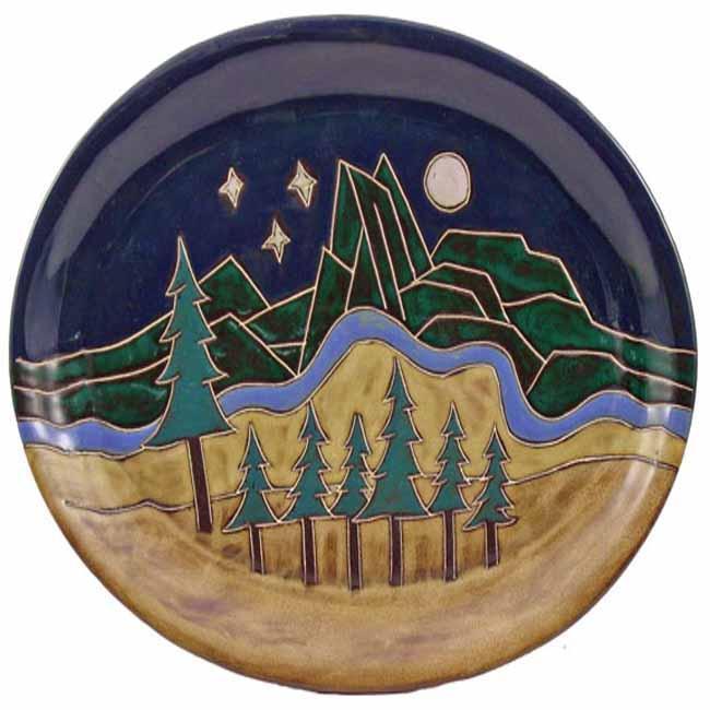 Mara Stoneware Oval Mountain Platter (Mexico)