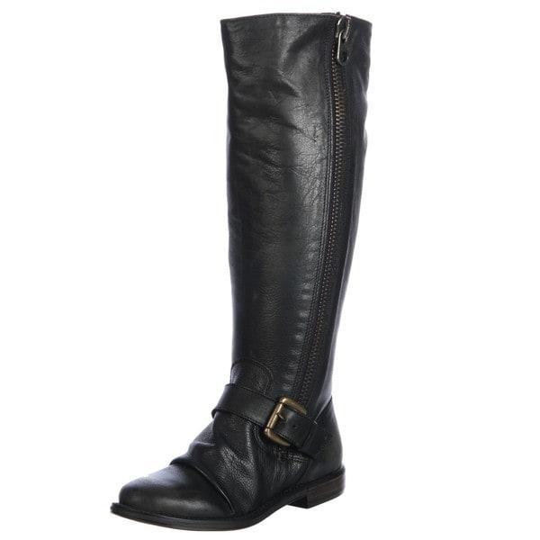 Steve Madden Women's 'P-Lakke' Black Riding Boots FINAL SALE