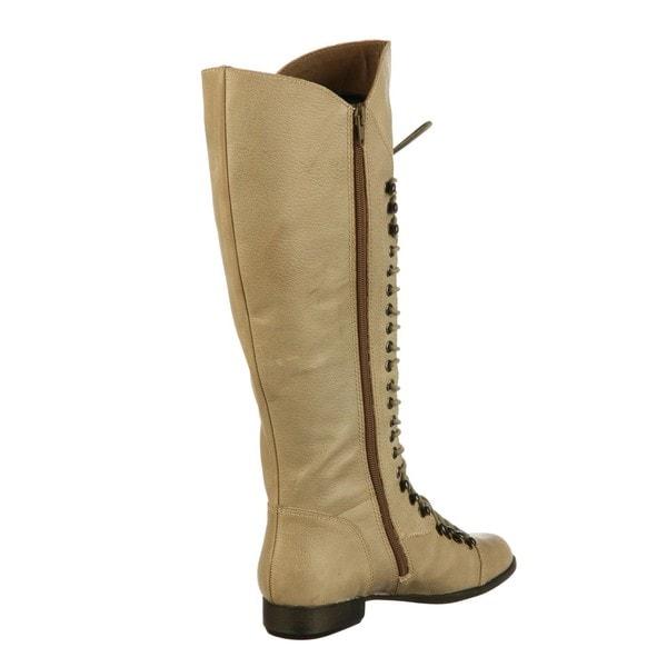e7408f681008e Shop Steve Madden Women's 'P-Lorra' Taupe Knee-high Riding Boots ...