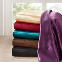Silver Orchid Satin Wrinkle-Free Luxurious 6-Piece Sheet Set