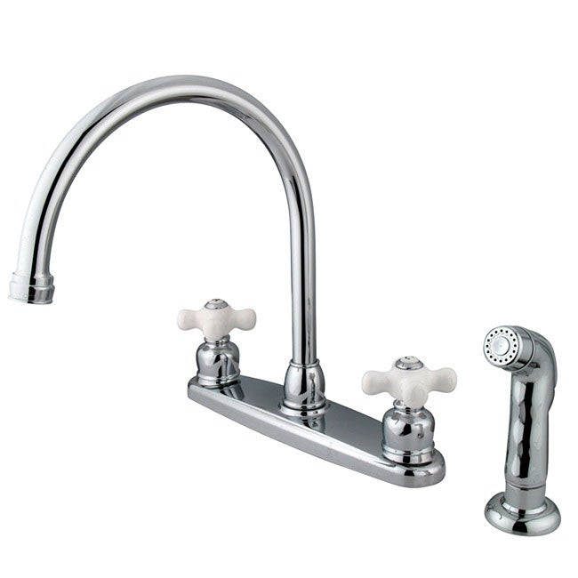 Shop Vintage Chrome Kitchen Faucet And Sprayer On Sale Free