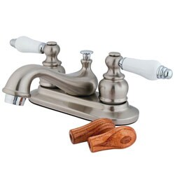 Two-tone Satin Nickel Teapot Bathroom Faucet