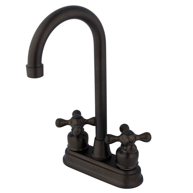 Oil Rubbed Bronze Double Handle Bar Faucet
