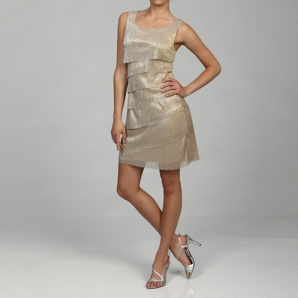 Connected Apparel Women's Tiered Dress