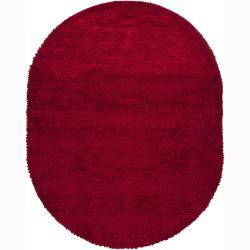 """Artist's Loom Hand-woven Wool Shag Rug - 7'6"""" x 9' - Thumbnail 0"""