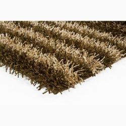 Handwoven Brown/Beige Mandara Shag Rug (2' x 3')