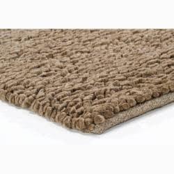 Artist's Loom Hand-woven Wool Shag Rug (7'9 Round) - Thumbnail 1
