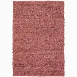 Artist's Loom Hand-woven Wool Shag Rug (2'x3') - 2' x 3' - Thumbnail 0
