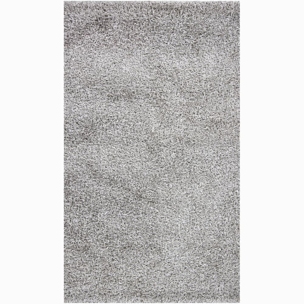 Handwoven Light Gray Mandara Shag Rug (5' x 7'6)