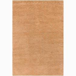 """Artist's Loom Hand-woven Wool Shag Rug - 5' x 7'6"""" - Thumbnail 0"""