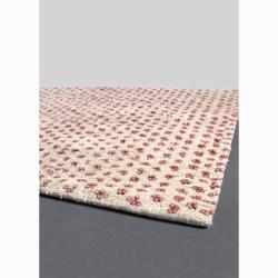 Artist's Loom Hand-woven Wool Shag Rug (5'x7'6) - Thumbnail 1