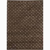 """Artist's Loom Hand-woven Wool Shag Rug (7'9x10'6) - 7'9"""" x 10'6"""""""