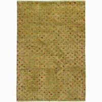 Artist's Loom Hand-woven Wool Shag Rug (9'x13') - 9' x 13'