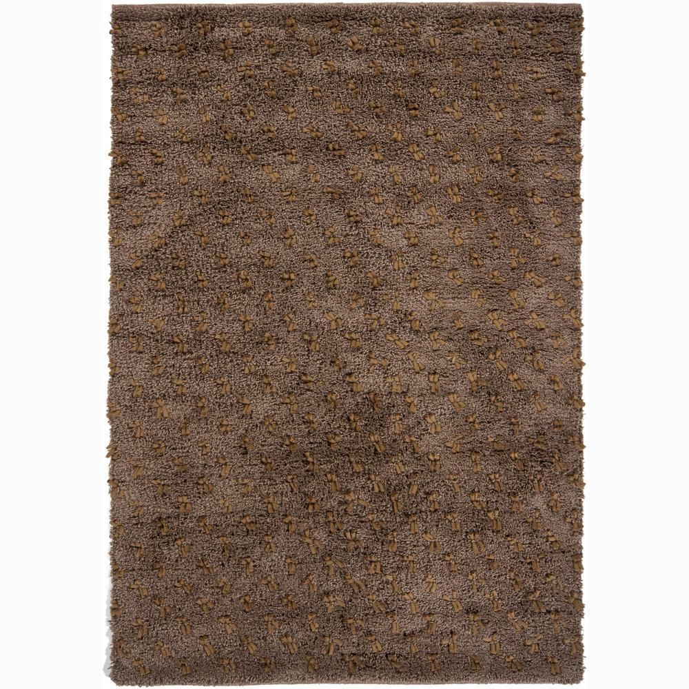 Artist's Loom Hand-woven Wool Shag Rug - 7'9 x 10'6