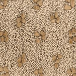 Handwoven Tan/Gold Mandara New Zealand Wool Rug (5' x 7'6)