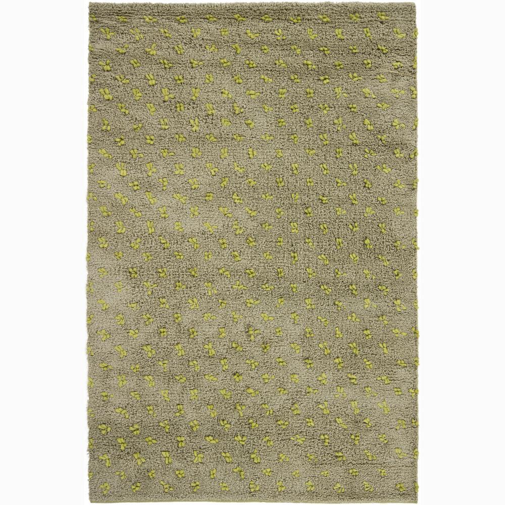 Artist's Loom Hand-woven Wool Shag Rug - 7'9