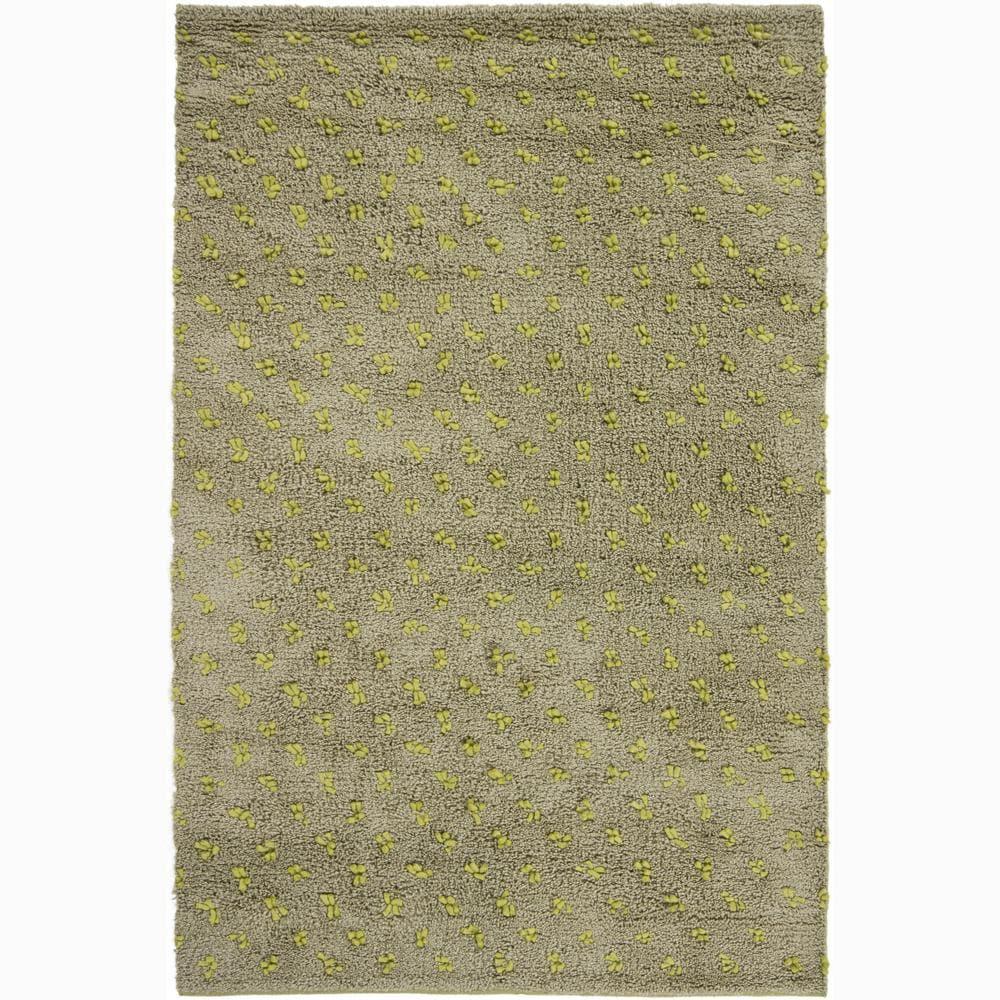"""Artist's Loom Hand-woven Wool Shag Rug - 7'9"""" x 10'6"""""""