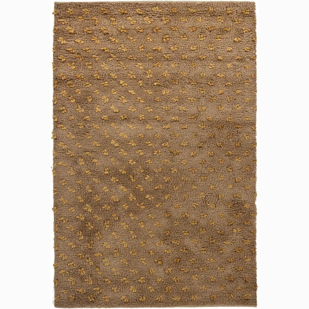 Artist's Loom Hand-woven Wool Shag Rug - 9'x13'
