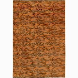"Artist's Loom Hand-woven Shag Rug - 5' x 7'6"" - Thumbnail 0"