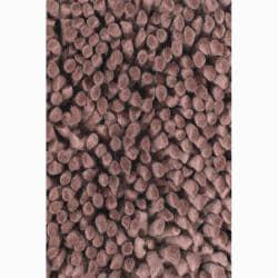 Handwoven Brown One-Inch Mandara New Zealand Wool Shag Rug (7'9 x 10'6)