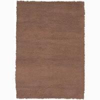 """Artist's Loom Hand-woven Wool Shag Rug - 5' x 7'6"""""""