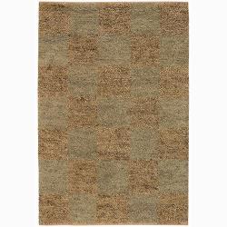 Handwoven Mandara New Zealand Wool Shag Area Rug (7'9 Round)