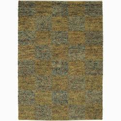 Artist's Loom Hand-woven Wool Shag Rug (9'x13') - 9' x 13' - Thumbnail 0