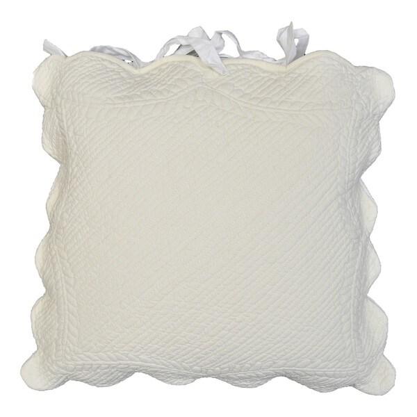 Aime Scalloped Decorative Pillow