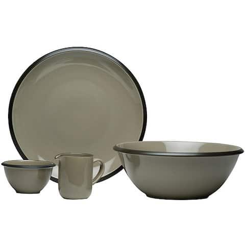 Hampshire Grey 4-piece Serveware Set