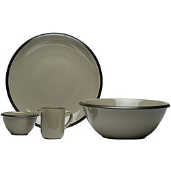 Red Vanilla Hampshire Grey 4-piece Serveware Set