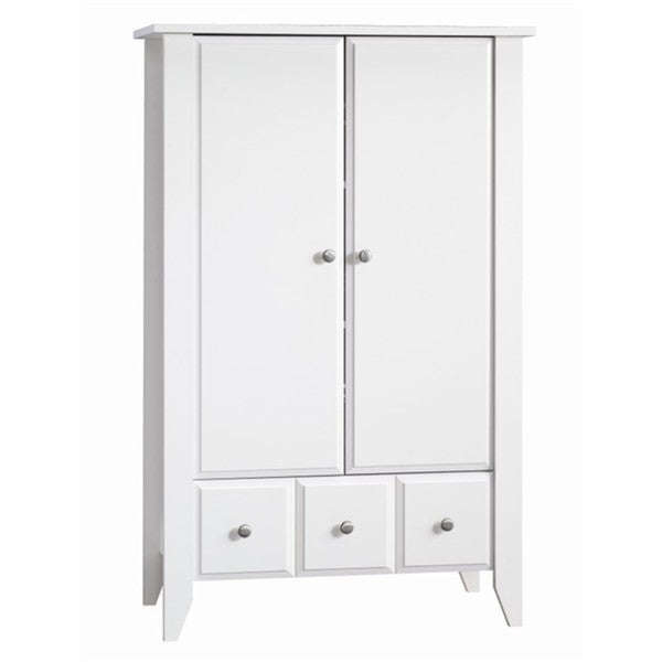 Shoal Creek Ready-to-Assemble Matte White Armoire