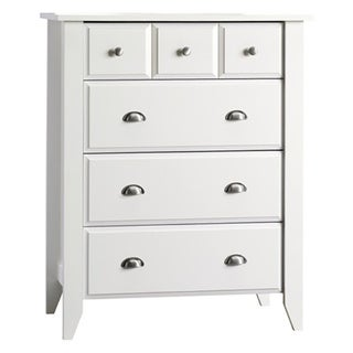 Link to Shoal Creek Ready-to-Assemble Matte White Four-drawer Chest Similar Items in Kids' & Toddler Furniture