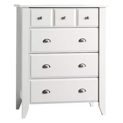 Shoal Creek Ready-to-Assemble Matte White Four-drawer Chest