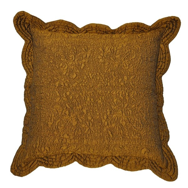 Shop Aramis Bronze Scalloped Decorative Pillow Free
