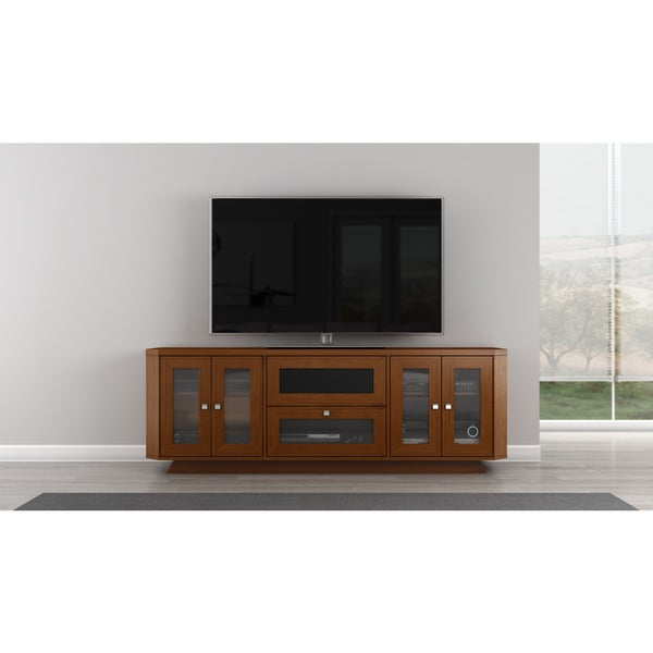shop light cherry 70 inch tv entertainment center free shipping today overstock 6030032. Black Bedroom Furniture Sets. Home Design Ideas