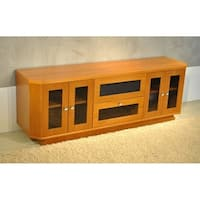 Light Cherry 70-inch TV Entertainment Center