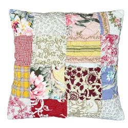 Lulu Patchwork/Floral Decorative Pillow