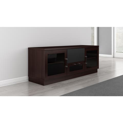 Contemporary 60-inch Wenge Finish TV and Entertainment Console