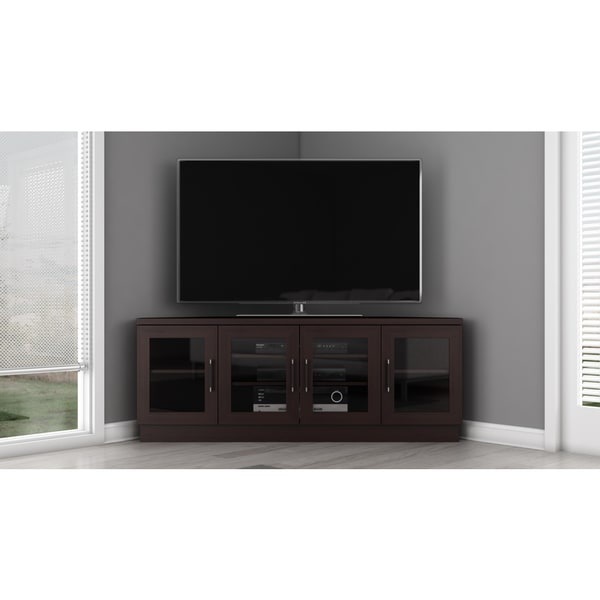Contemporary 60 Inch Wenge TV And Entertainment Corner Center