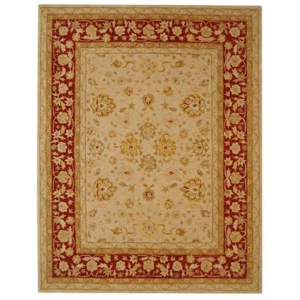 Safavieh Anatolia Handmade Ivory / Red Wool Rug (12' x 15')