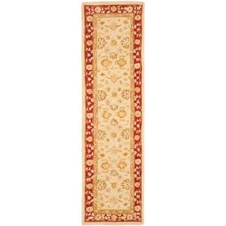 Safavieh Handmade Anatolia Oriental Ivory/ Red Hand-spun Wool Runner (2'3 x 16')