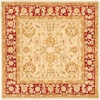 Safavieh Handmade Anatolia Oriental Ivory/ Red Hand-spun Wool Rug (6' Square)