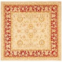 Safavieh Handmade Anatolia Oriental Ivory/ Red Hand-spun Wool Rug - 8' x 8' Square